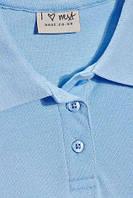 Школьная рубашка поло Некст на девочку 10 лет Цвет голубой