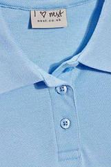 Школьная рубашка поло Некст на девочку 12 лет Цвет голубой
