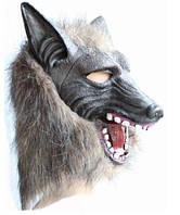 Маска оборотная на хэллоуин. Страшная  маска волка