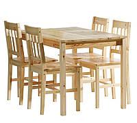 Комплект TYLSTRUP: стіл+4 стільці нат.