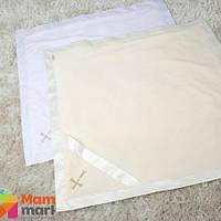 Крыжма махровая для крещения Battesimo Изящность, цвет молочный золото