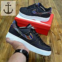 Мужские кроссовки Nike Air Force 🔥 (Найк Аир Форс) джинсовые