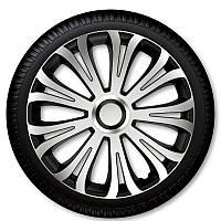 Колпаки на колеса r16 Avera Silver Black Racing4