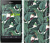 "Чехол на Sony Xperia Z C6602 Банановые листья ""3078c-40"""