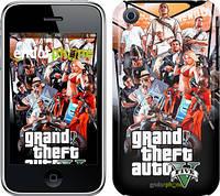 "Чехол на iPhone 3Gs GTA 5. Collage v2 ""2815c-34"""