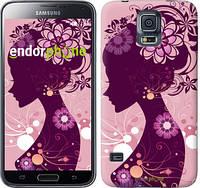 "Чехол на Samsung Galaxy S5 g900h Силуэт девушки ""2831c-24"""