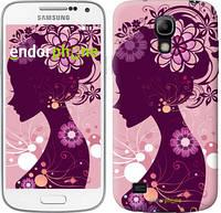 "Чехол на Samsung Galaxy S4 mini Duos GT i9192 Силуэт девушки ""2831c-63"""