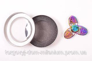 Спиннер металлический  цветной три лопасти spinner
