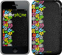 """Чехол на iPhone 3Gs цветочный орнамент """"2390c-34"""""""