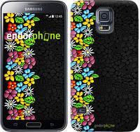 """Чехол на Samsung Galaxy S5 g900h цветочный орнамент """"2390c-24"""""""