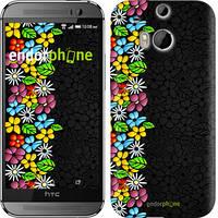 "Чехол на HTC One M8 dual sim цветочный орнамент ""2390c-55"""