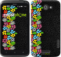 "Чехол на HTC One X+ цветочный орнамент ""2390c-69"""