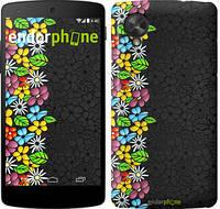 """Чехол на LG Nexus 5 цветочный орнамент """"2390c-57"""""""