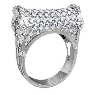 Кольцо  женское серебряное Руно  211700