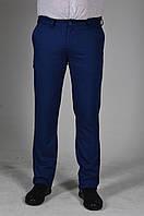 Мужские ровные брюки Насыщенный синий цвет