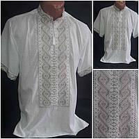 "Рубашка с вышивкой для мужчин ""Богуслав"" (домотканка), 46-54  р-ры, 420/390 (цена за 1 шт. + 30 гр.)"