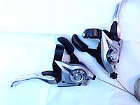 Манетки Shimano Tourney ST-EF51 черные ,серые  3,8