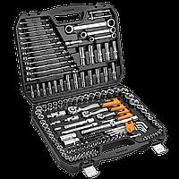 """Головки сменные 156 шт., 1/4"""", 1/2"""", 3/8"""" CrV Neo Tools 08-668"""