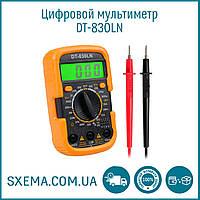 Мультиметр DT-830LN в защитном чехле, подсветка дисплея, фото 1