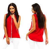ШОК ЦЕНА. Летняя блуза,блузка, размеры 42-48,Цвета: красный, мятный, темно-бежевый, желтый, зеленый, темно-с