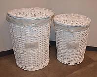 Плетеные корзины для хранения (2 шт.)