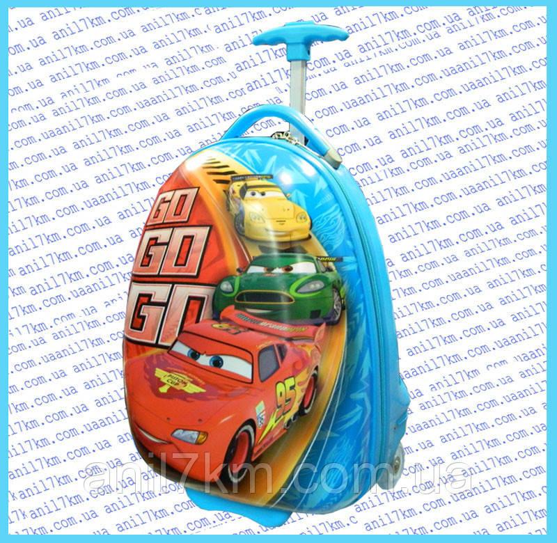 Дитячий пластиковий чемодан на силіконових колесах