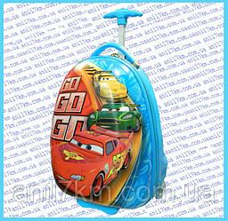 Детский пластиковый чемодан на силиконовых колёсах