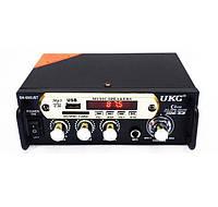 Автомобильный 2-х канальный усилитель звука UKC SN-666BT FM USB 2x300W Bluetooth + Караоке