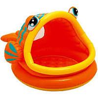 Бассейн надувной Intex 57109 Ленивая рыбка с крышей 124×109×71 см