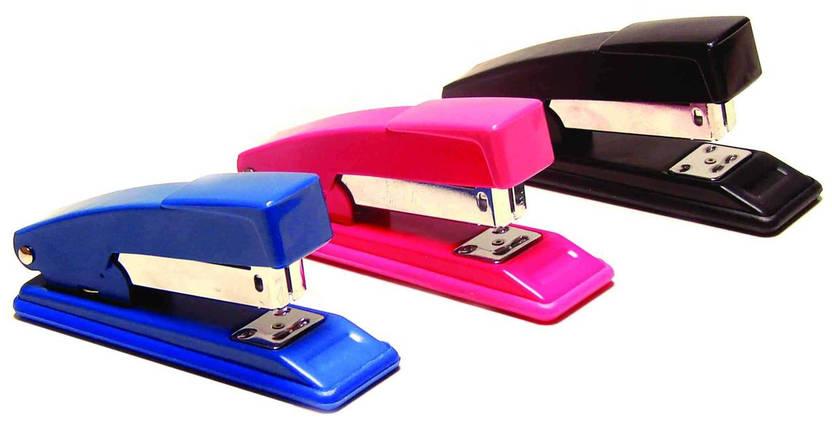 Степлер металевий 4Office, № 24/6, 20 аркушів, кольори асорті, фото 2