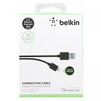 Кабель USB iPhone 5,5s,6,6s,9 Lightning Belkin USB для iPad mini 2/3/4 air