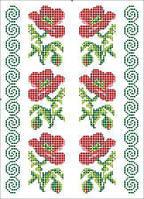 Водорозчинний пришивний флізелін з нанесеним малюнком 20х30см (Княгиня Ольга)