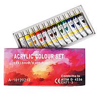 Набор акриловых красок 12 цв по 12 мл , фото 1