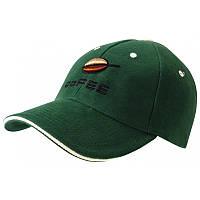 Кепки CONTRAST SANDWICH CoFEE с логотипом, 3 цвета, серебристая пряжка, Чехия, код 2089 темно-зеленый
