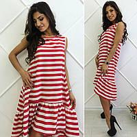 Полосатое платье Цвета Батал ГО, фото 1