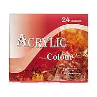 Набор акриловых красок 24 цв по 12 мл