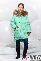 Зимнее детское пальто  X-Woyz! DT-8256-7 мята