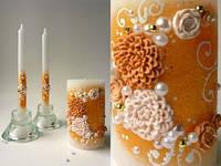 Свадебный набор свечей золотой ТЛ-717