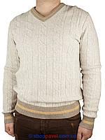 Мужской стильный зимний свитер Veli Yazar 0730 Н в бежевом цвете