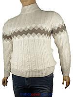 Мужской вязаный свитер Pulltonik в больших размерах Р-230-223 BEJ B