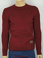 Мужской вязанный свитер Despicaso (Турция) 0430 Н бордового цвета