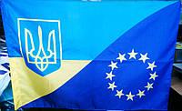 Флаг Евросоюз Украина комбинированный