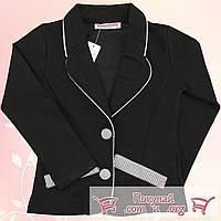 Пиджаки чёрного цвета для девочек от 6 до 13 лет (5459-2)