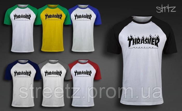 Мужская футболка Thrasher Raglan T-Shirt, фото 2