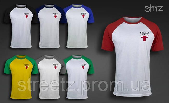 Мужская футболка Chicago Bulls Raglan T-Shirt, фото 2