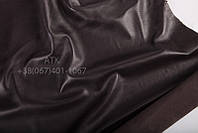 Кожа одежная наппа черно-коричневый 02-3107
