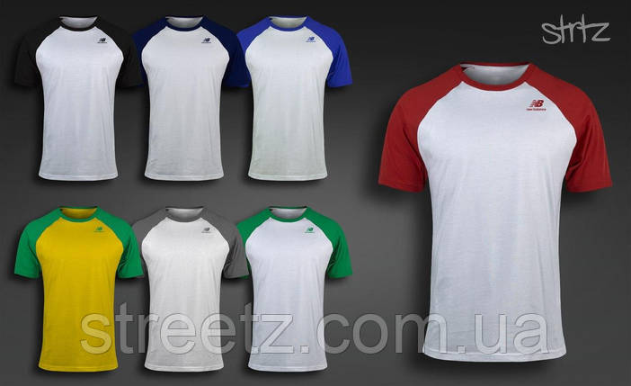 Мужская футболка New Balance Raglan T-Shirt, фото 2