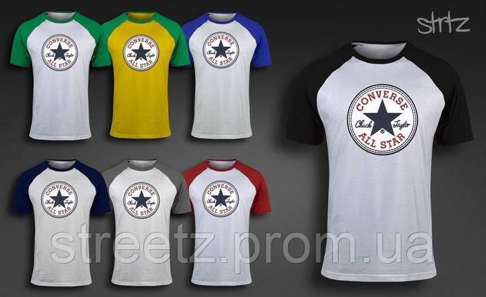 Чоловіча футболка Converse Raglan T-Shirt, фото 2