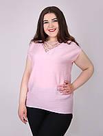 Льняная футболка большого размера - 1029