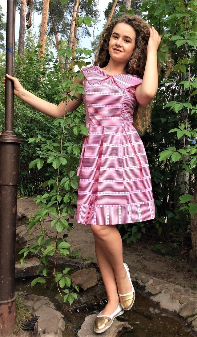 Платье летнее из поплина П124